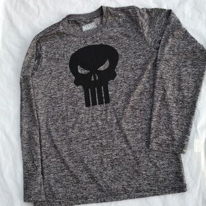 Marvel comic punisher dry fit longsleeve shirt M